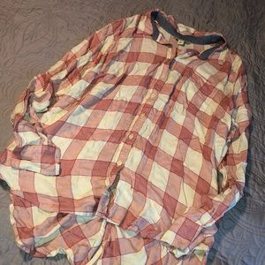 Size Large Lucky Brand High - Low Flannel